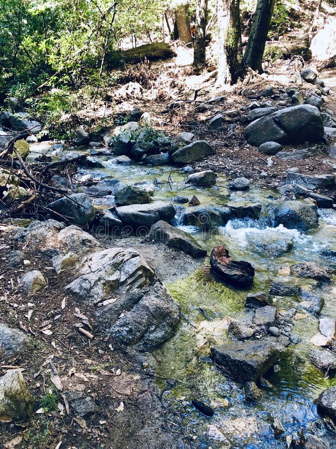 Santa Anita Canyon River photographie stock libre de droits