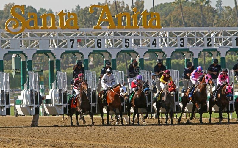 Santa Anita Park Gate Break Editorial Stock Image Image