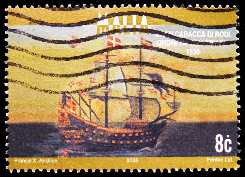 Santa Anna Gran Caracca di Rodi, 1530, serie das embarcações navais, cerca de 2006 foto de stock