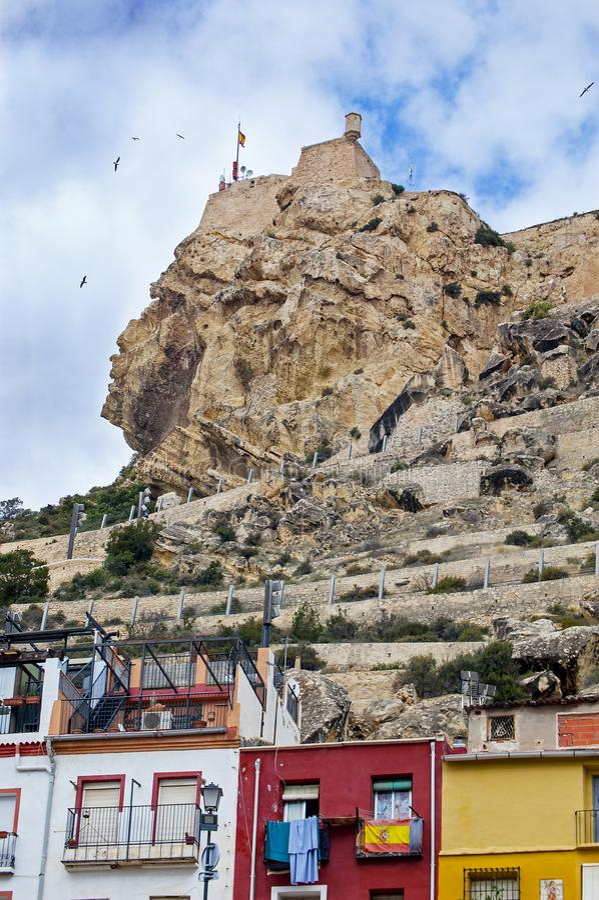 Santa Arbara Castle immagini stock libere da diritti