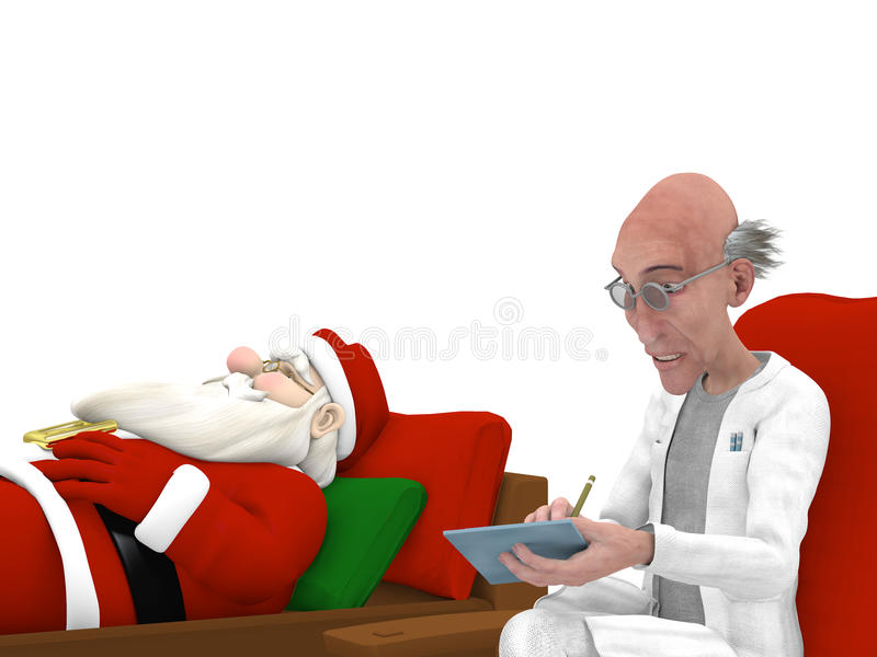 Santa au psychologue illustration libre de droits
