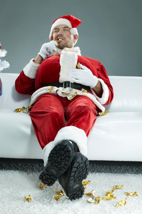 Santa bâfrante photographie stock