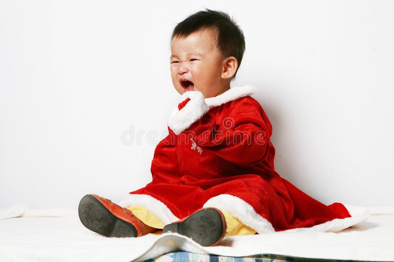 Download Santa baby stock image. Image of headshot, excited, chinese - 6916875
