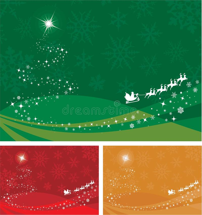 Santa background stock illustration