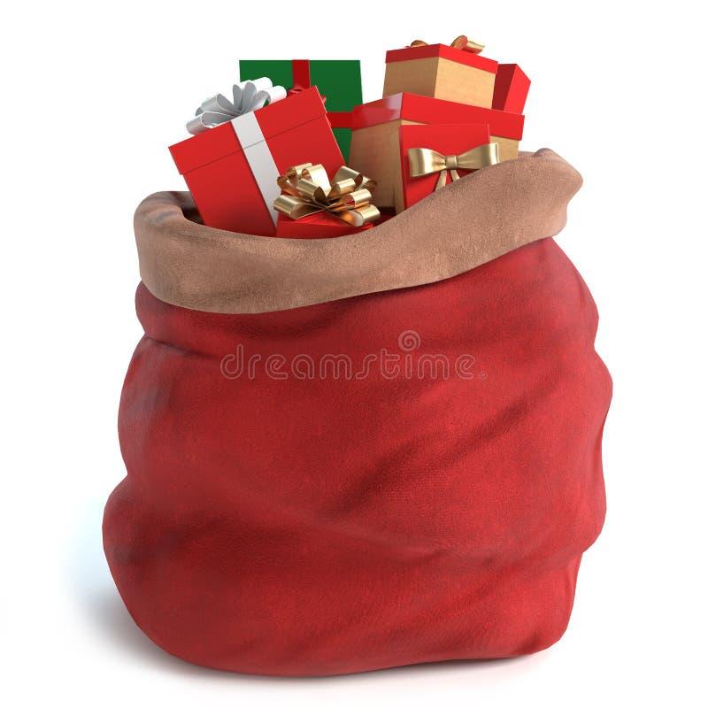 Santa Bag met Giften stock foto