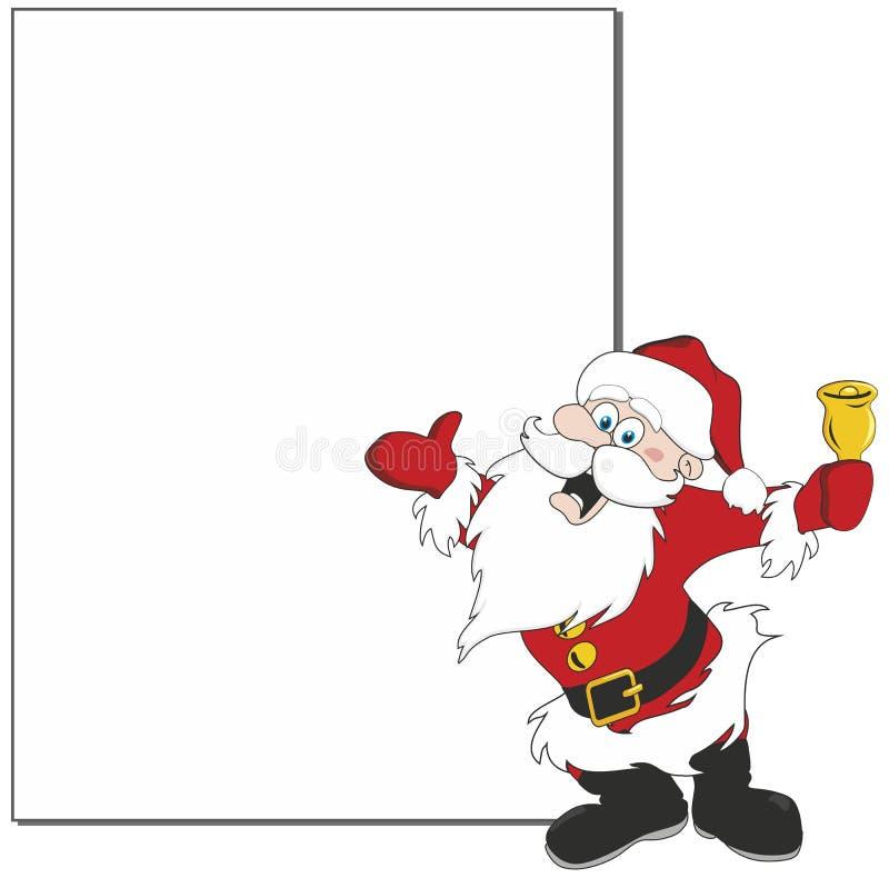 Santa banner royalty free illustration