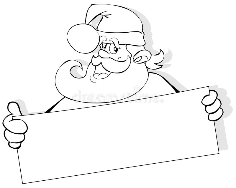 Santa with banner royalty free illustration