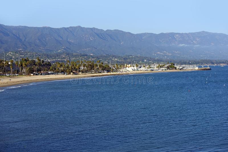 Santa Barbara Bay immagine stock
