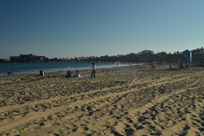 Santa Barbara Beach At Sunset Paisaje de la naturaleza foto de archivo