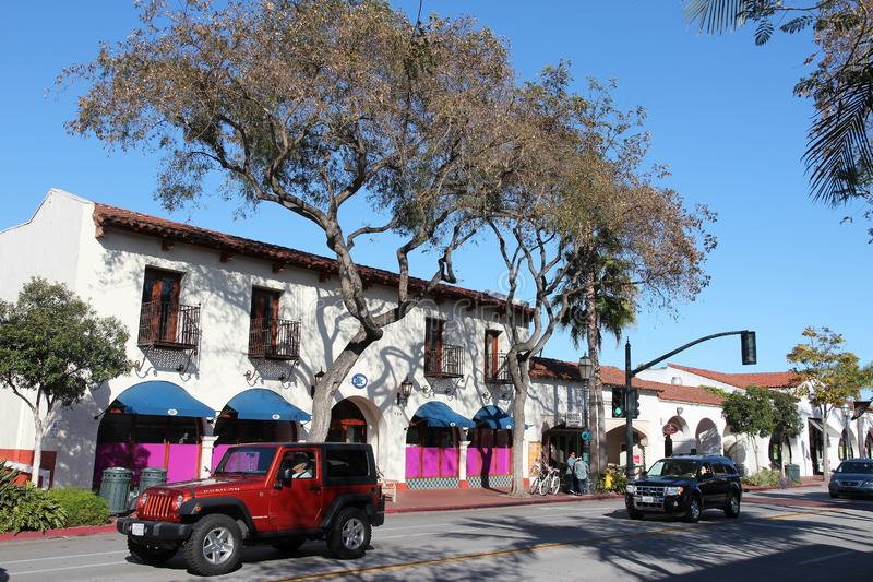 Santa Barbara, California. SANTA BARBARA, UNITED STATES - APRIL 6, 2014: People visit Santa Barbara, California. It is a popular tourist destination with more stock image