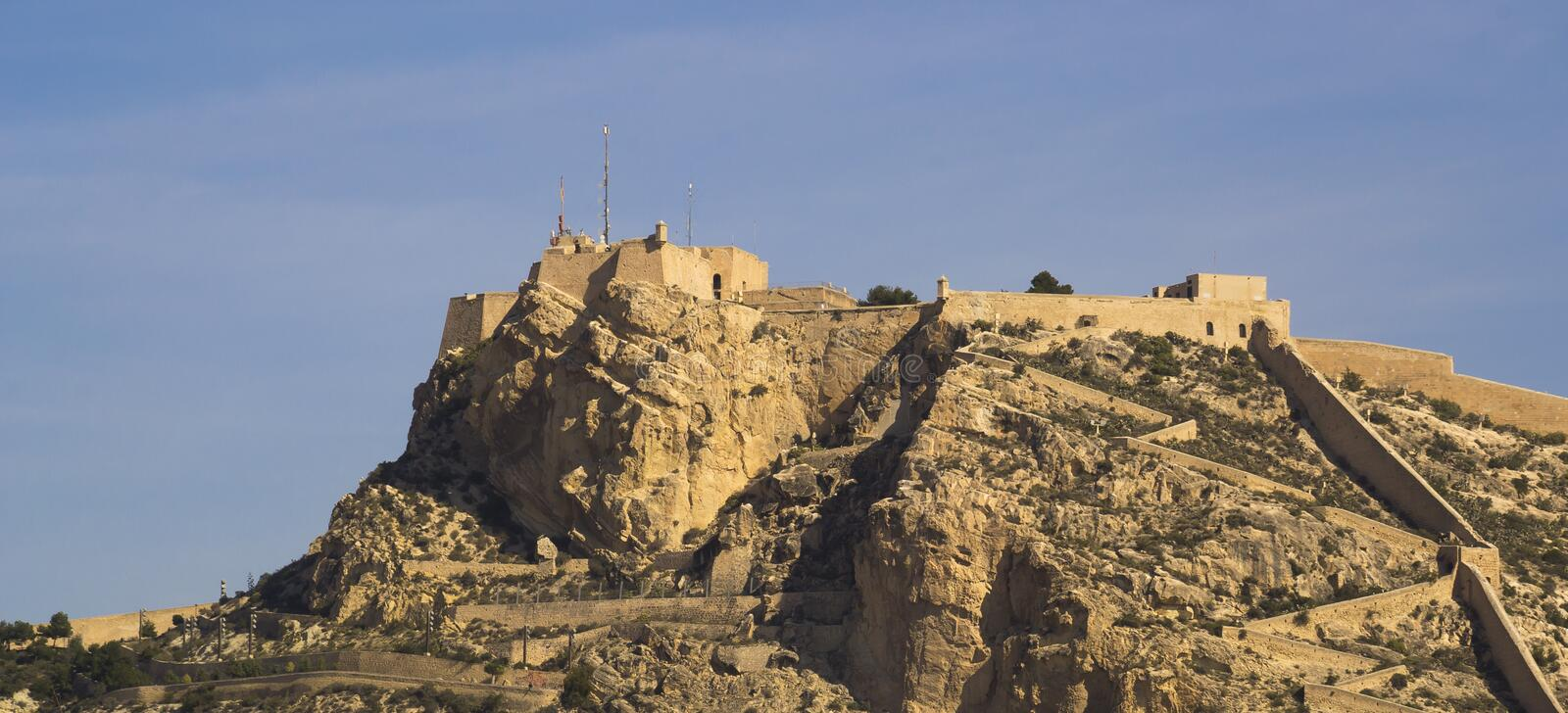 Download Santa Barbara Castle Alicante Stock Photo - Image: 33647028