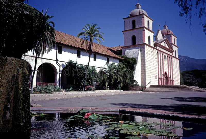 Santa Barbara Church in California royalty free stock images