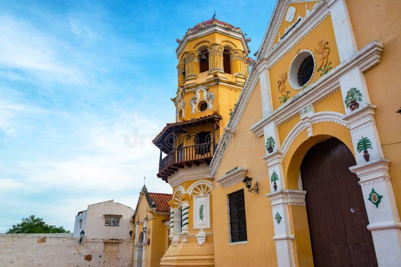 Santa Barbara Church View. View of Santa Barbara church in Mompox, Colombia stock image