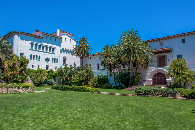 Santa Barbara County Courthouse, California, U.S.A. immagini stock libere da diritti