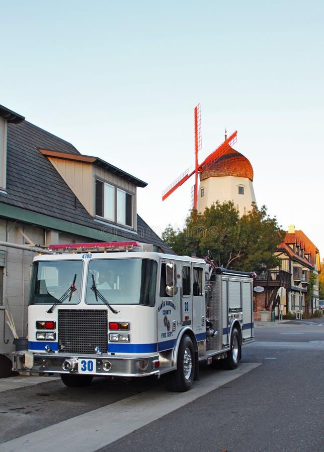 Santa Barbara County Fire Truck in Solvang, CA