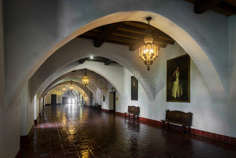 Santa Barbara Courthouse fotografia stock libera da diritti