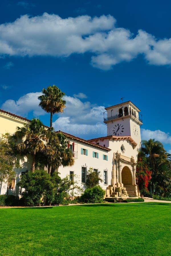 Santa Barbara Courthouse and Clocktower zdjęcia stock