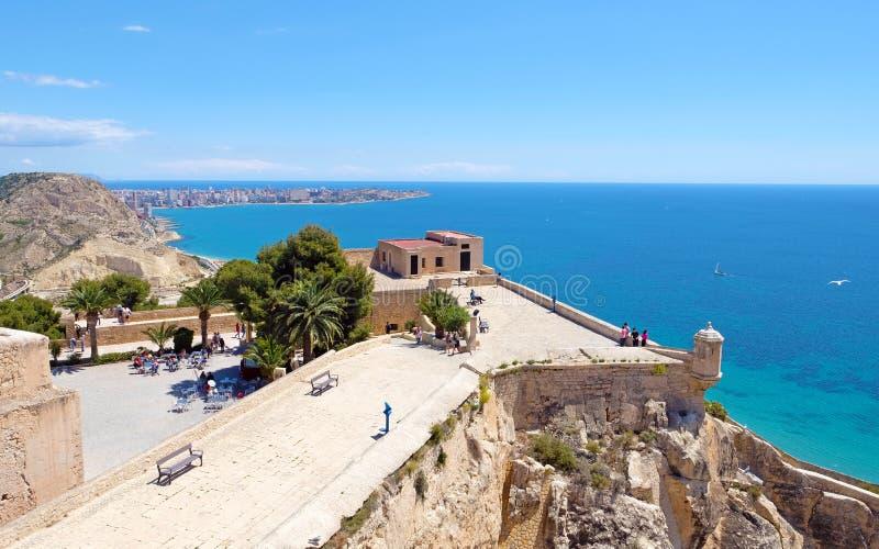 Santa Barbara kasztel, Alicante, Costa Blanca, Hiszpania zdjęcia royalty free