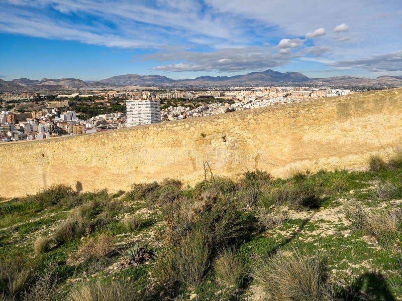 Santa Barbara kasztel w Alicante, Hiszpania - zdjęcia royalty free