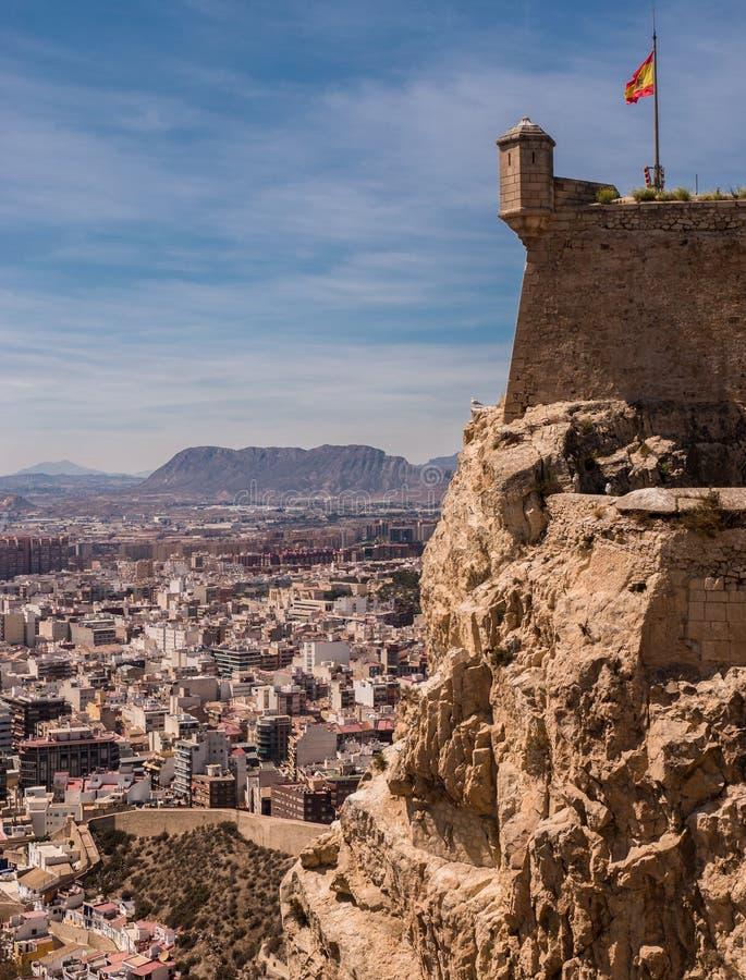 Santa Barbara kasztel w Alicante, Hiszpania fotografia royalty free