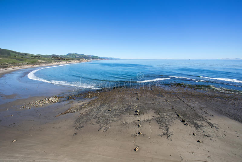 Santa Barbara kustlinje arkivbild