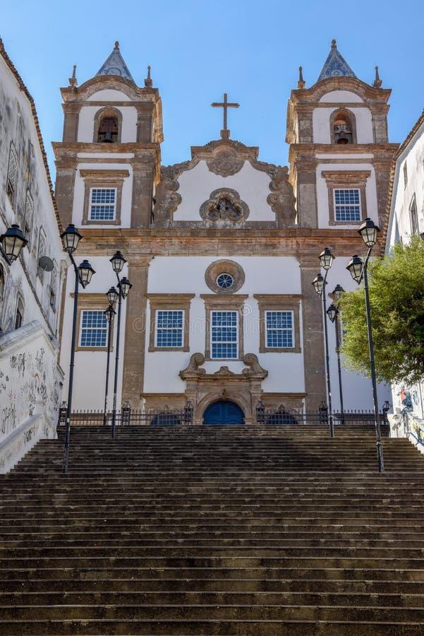 Santa Barbara kyrka på Pelourinho på Salvador Bahia, Brasilien royaltyfri bild