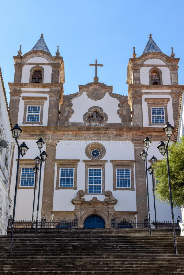 Santa Barbara kyrka p? Pelourinho p? Salvador Bahia, Brasilien royaltyfri fotografi
