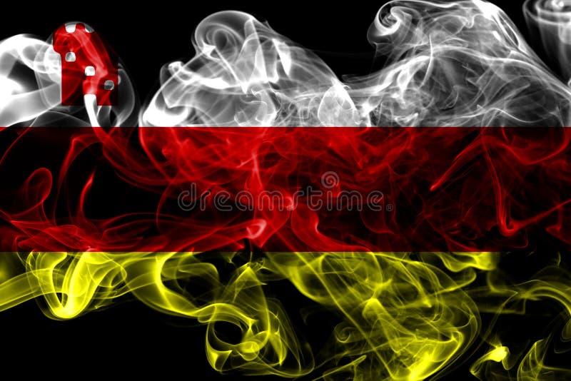 Santa Barbara miasta dymu flaga, Kalifornia stan, Stany Zjednoczone O obrazy royalty free