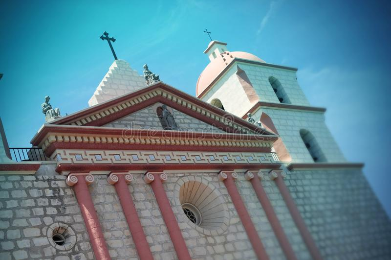 Santa Barbara misja, Santa Barbara, Kalifornia - usa obrazy royalty free