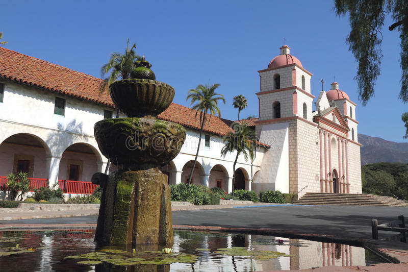 Santa Barbara Mission. In California royalty free stock image