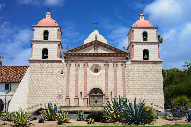 Santa Barbara Mission imagens de stock royalty free