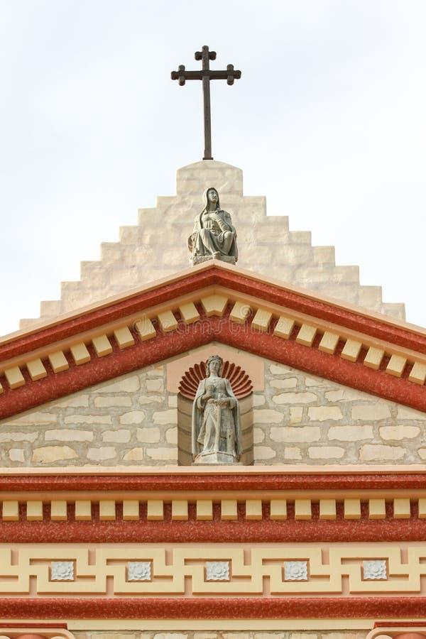 Santa Barbara Mission Cross. The cross on top of the Santa Barbara Mission royalty free stock image