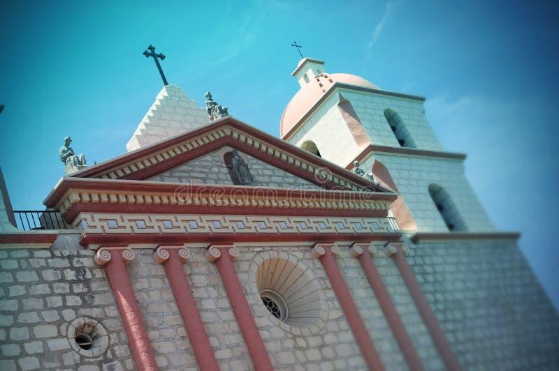 Santa Barbara Mission, Santa Barbara, la Californie - Etats-Unis images libres de droits