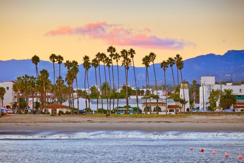 Santa Barbara from the pier. View on Santa Barbara from the pier stock photography