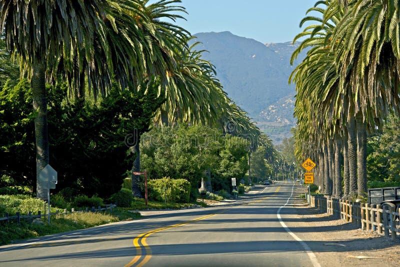 Santa Barbara Road immagine stock libera da diritti