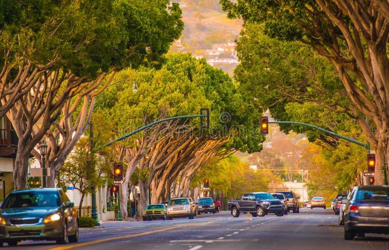 Santa Barbara Street. Downtown Santa Barbara Street. Santa Barbara, California, United States stock images