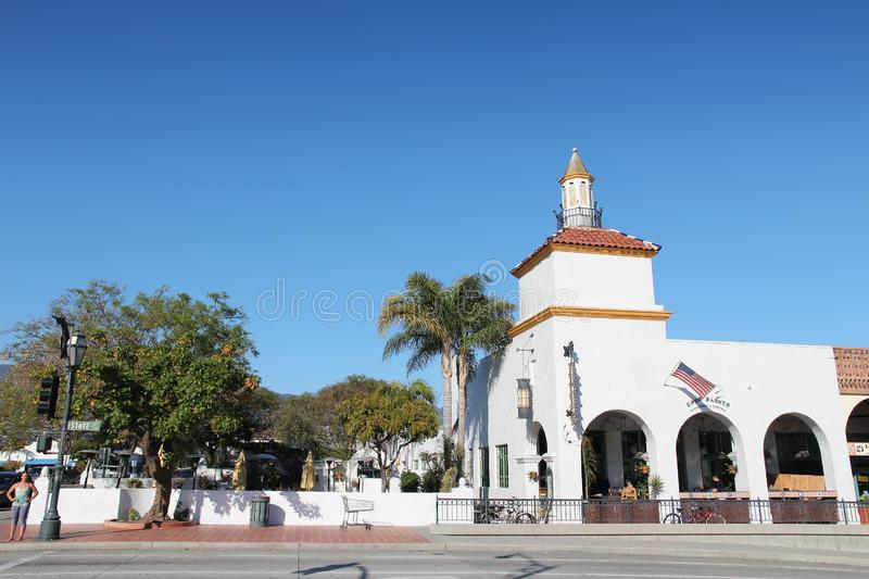 Santa Barbara. UNITED STATES - APRIL 6, 2014: People visit , California. It is a popular tourist destination with more than 6 million visitors in 2012 royalty free stock photos