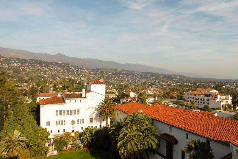Santa Barbara. View over the city of Santa Barbara stock photo