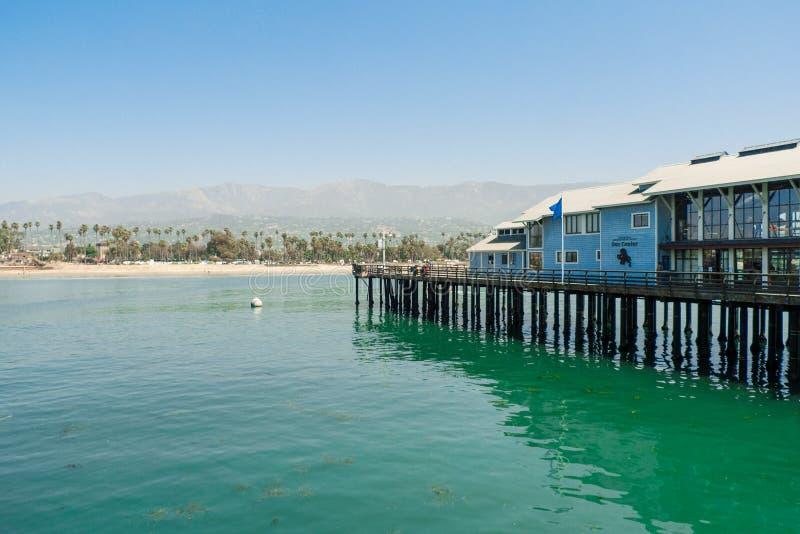 Santa Barbara vue du quai de Stearns images libres de droits