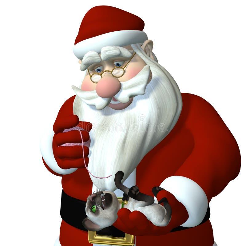 Santa Bawić się z Figlarką royalty ilustracja