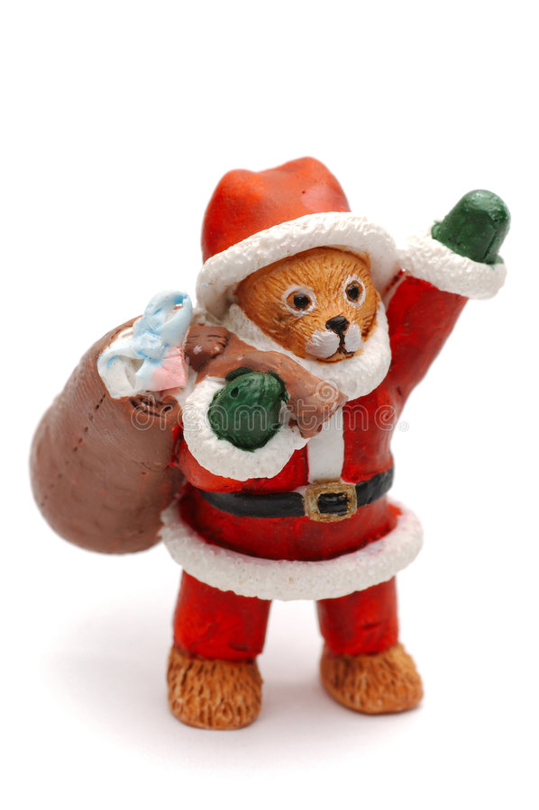 Santa bear zdjęcie stock