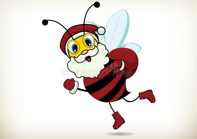 Santa Bee ilustração do vetor
