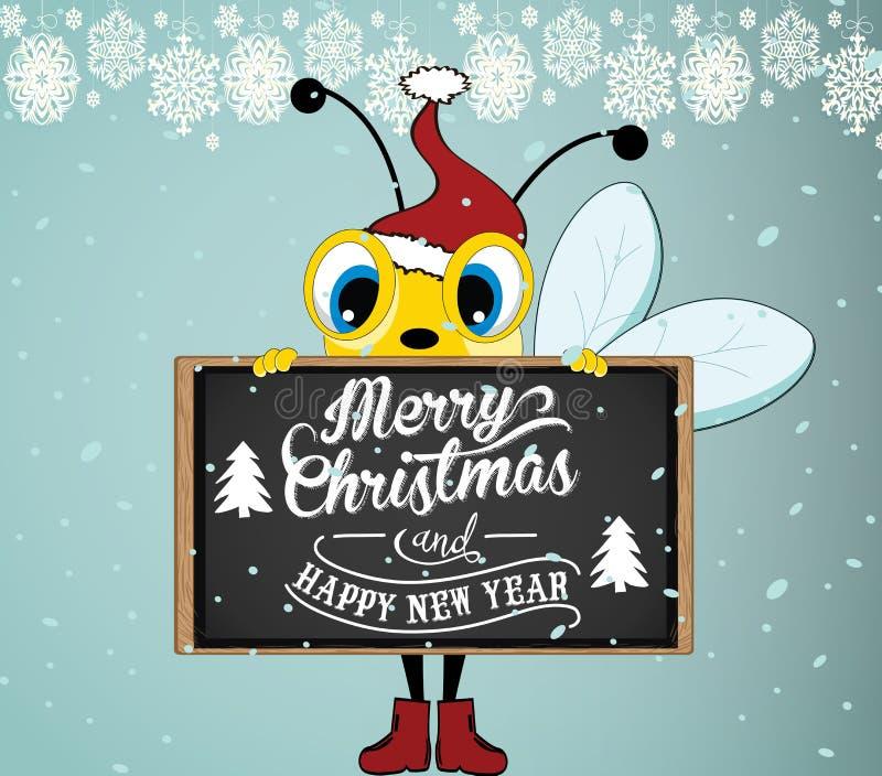 Santa Bee ilustração royalty free