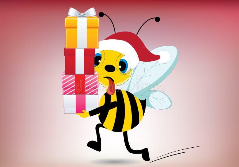 Santa Bee cansada libre illustration