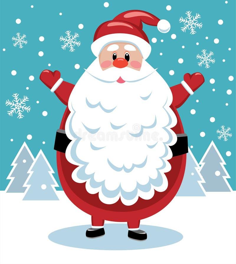 Download Santa with big beard stock vector. Image of character - 21590642