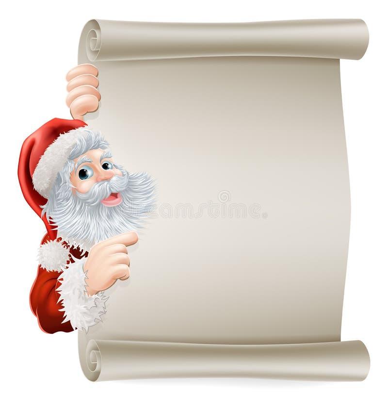 Santa boże narodzenia Plakatowi ilustracji