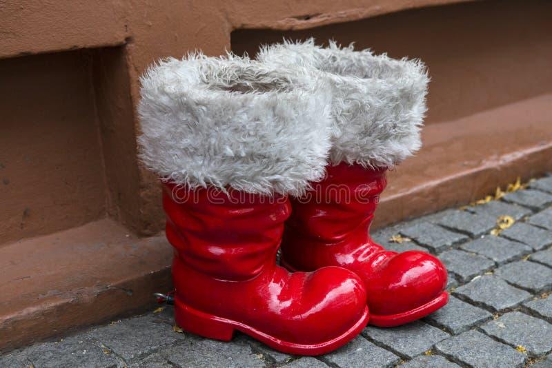 Santa Boots stock image