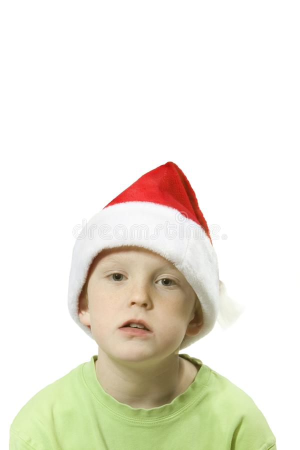 Santa boy 2 stock photo