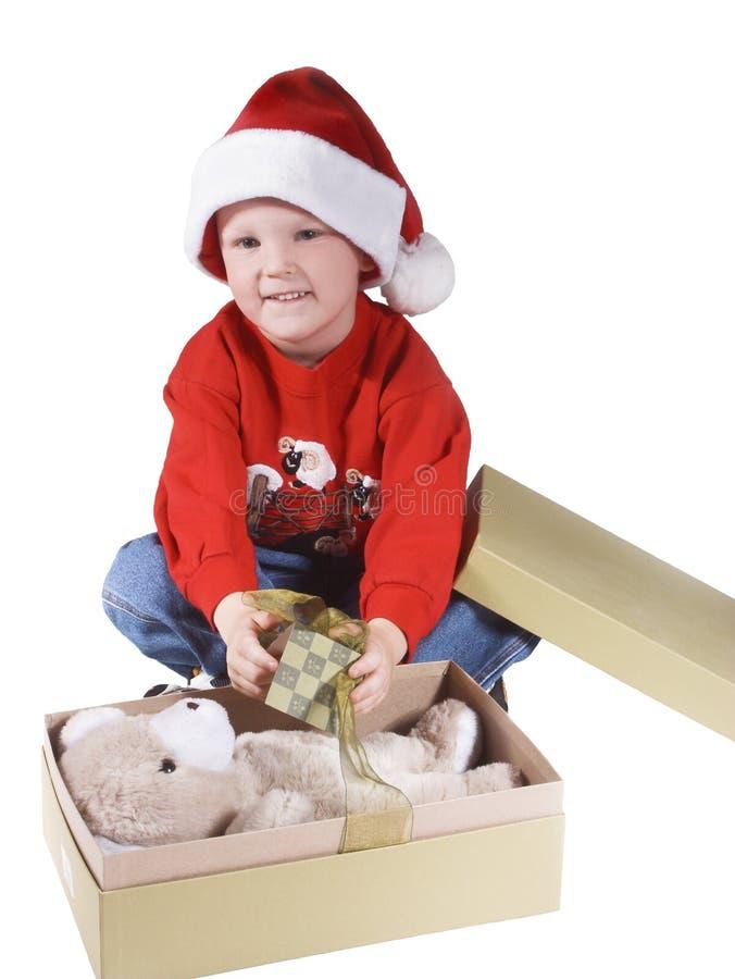 Santa boy royalty free stock photos