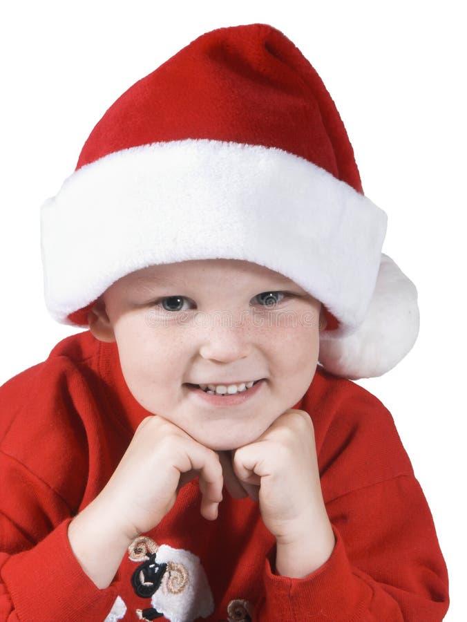 Santa boy stock photography